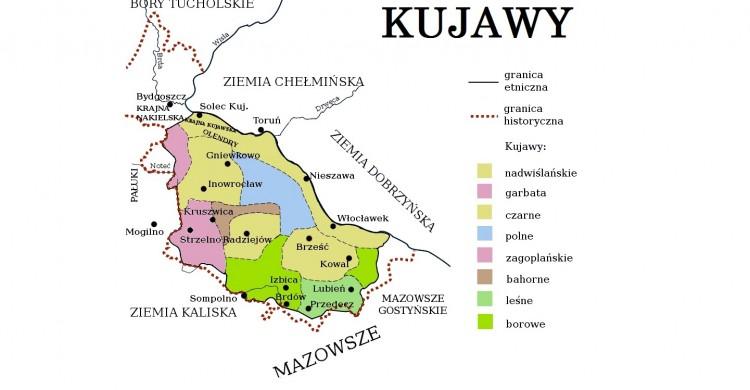 Kujawy_-_mapa